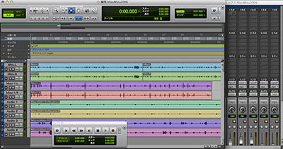 ProTools コンピュータのハードディスクレコーディング・システム